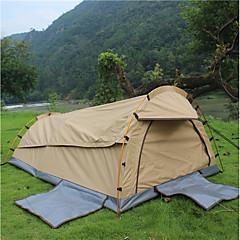 billige Telt og ly-Deerke 2 personer Tunnelltelt Enkelt camping Tent Ett Rom Brette Telt Vindtett Regn-sikker varmelagrende til Camping & Fjellvandring