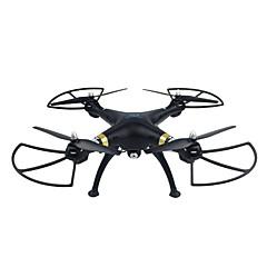 billige Fjernstyrte quadcoptere og multirotorer-RC Drone SJ  R / C T70CW 4 Kanal 2.4G Med HD-kamera 0.5MP 720P Fjernstyrt quadkopter En Tast For Retur / Sveve Fjernstyrt Quadkopter /