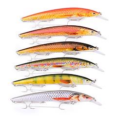 billiga Fiskbeten och flugor-6 pcs Fiskbete Hårt bete / Spigg Plast Utomhus Sjöfiske / Drag-fiske / Trolling & Båt Fiske