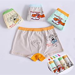 billige Undertøj og sokker til drenge-4 Baby Drenge Simple Tegneserie Bomuld Undertøj og strømper Lyseblå