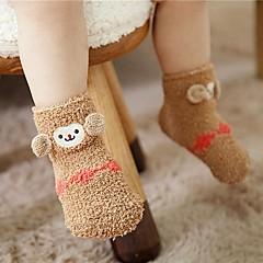 billige Undertøj og sokker til piger-Pige Trikotage Trykt mønster,Bomuld Forår Efterår Sødt Elastisk Brun
