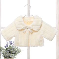 billige Pigetoppe-Pige Bluse Ensfarvet, Rayon Polyester Alle årstider Langærmet Simple Vintage Blå Hvid Lyserød Beige