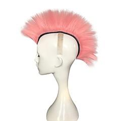 billiga Peruker och hårförlängning-Syntetiska peruker Kinky Rakt Rosa Frisyr i lager Syntetiskt hår Naturlig hårlinje Rosa Peruk Dam Lång Utan lock Rosa