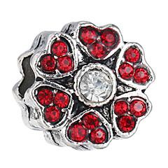 billige Perler og smykkemaking-DIY Smykker 10 stk Perler Strass Legering Lilla Perle Rosa Rød Lyseblå Marineblå Blomst Perlene 1.2 cm DIY Halskjeder Armbånd