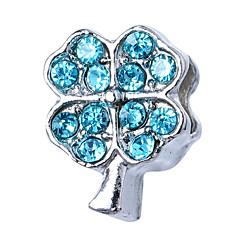billige Perler og smykkemaking-DIY Smykker 10 stk Perler Strass Legering Hvit Lilla Perle Rosa Rød Lyseblå Kvadrat Perlene 1.1 cm DIY Halskjeder Armbånd