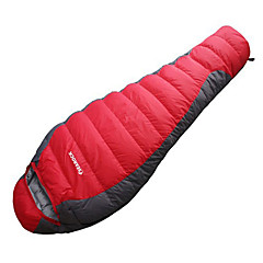 お買い得  寝袋&キャンプ用寝具-寝袋 マミー型 ダックダウン -15-20°C 防湿 携帯用 速乾性 防風 通気性 220X80 狩猟 ハイキング キャンピング 旅行 屋外 シングル 幅150 x 長さ200cm