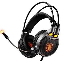 billiga Headsets och hörlurar-SADES R1 Headband Kabel Hörlurar Dynamisk Plast Spel Hörlur headset