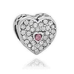 tanie Koraliki i tworzenie biżuterii-Biżuteria DIY 1 szt Korálky Imitacja diamentu Stop White Niebieski Light Pink Serce Koralik 0.2 cm majsterkowanie Naszyjniki Bransoletki