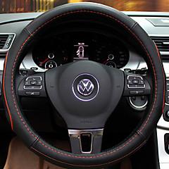 billige Rattovertrekk til bilen-Rattovertrekk til bilen ekte lær 38 cm Svart / Oransje / Svart / Rød / Svart / Blå For Buick Se for meg / Lacrosse / GLB