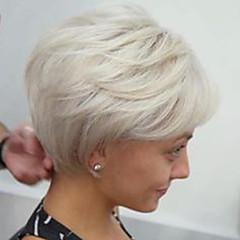 billige Lågløs-Human Hair Capless Parykker Menneskehår Krop Bølge Frisure i lag Side del Maskinproduceret Paryk Dame