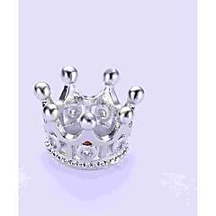 baratos Miçangas & Fabricação de Bijuterias-Jóias DIY 1 pçs Contas Imitações de Diamante Liga Dourado Prata Formato Coroa Bead 0.5 cm faça você mesmo Colar Pulseiras
