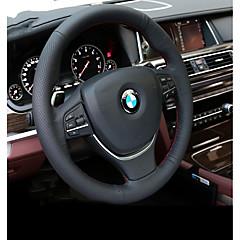 billige Rattovertrekk til bilen-Rattovertrekk til bilen ekte lær Svart For BMW X3 / X5 / 3-serien Alle år