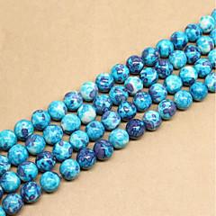 billige Perler og smykkemaking-DIY Smykker 46 stk Perler Syntetiske Edelstener Blå Rund Perlene 0.8 cm DIY Halskjeder Armbånd