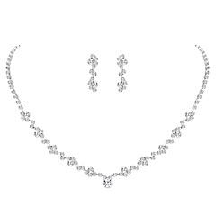 baratos Conjuntos de Bijuteria-Mulheres Conjunto de jóias - Europeu, Fashion, Elegante Incluir Prata Para Casamento / Festa / Brincos