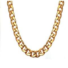 ieftine Lănțișoare-Bărbați Lănțișoare - Teak Modă Auriu Coliere 1 Pentru Cadou, Zilnic