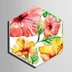 billige Innrammet kunst-Botanisk Blomstret/Botanisk Tegning Veggkunst,Plastikk Materiale med ramme For Hjem Dekor Rammekunst Stue