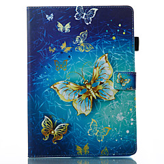 cheap Tablet Accessories-Case For Apple iPad 10.5 iPad (2017) Wallet with Stand Flip Pattern Auto Sleep/Wake Up Full Body Cases Butterfly Hard PU Leather for iPad