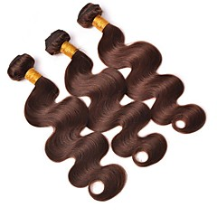cheap Wigs & Hair Pieces-4 Bundles Brazilian Hair Body Wave Human Hair Natural Color Hair Weaves / Hair Bulk 10-26 inch Human Hair Weaves 4x4 Closure Human Hair Extensions