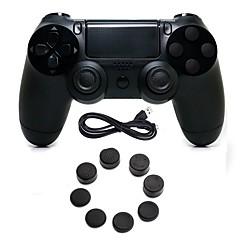 tanie PS4: akcesoria-kontroler gier przewodowy kontroler gamepad joystick gamepady z silikonową nakładką na ps4