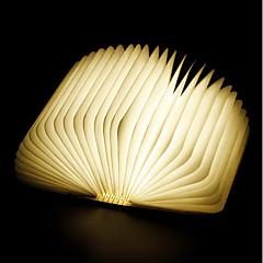 billiga Dekorativ belysning-1st bok LED Night Light RGB Inbyggd Li-batteridriven Vikbar Uppladdningsbar Dekorativt ljus Med USB-port Enkel att bära Färgskiftande