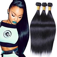 cheap Human Hair Weaves-Brazilian Hair Straight Remy Human Hair Natural Color Hair Weaves 3 Bundles 8-28inch Human Hair Weaves Natural Black