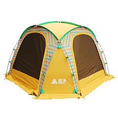 billige Telt og ly-Sheng yuan 5-7 personer Telt Enkelt camping Tent Utendørs Familietelt Folding til Camping & Fjellvandring Fisking Picnic 1500-2000 mm