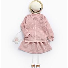 billige Tøjsæt til piger-Børn Pige Simple Ensfarvet Langærmet Tøjsæt