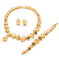 baratos Conjuntos de Bijuteria-Mulheres Conjunto de jóias - Chapeado Dourado Formato de Folha Importante, Fashion Incluir Dourado Para Casamento Festa