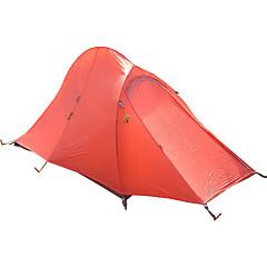 billige Telt og ly-2 personer Telt Dobbelt camping Tent Utendørs Turtelt Vindtett Regn-sikker Reflekskant YKK Glidelås Pusteevne Lettvekt til Klatring