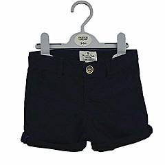 billige Drengebukser-Baby Drenge Simple / Afslappet Daglig Ensfarvet Ren Farve Kortærmet Bomuld Bukser Navyblå 120