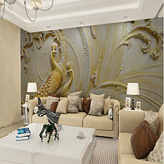 cheap Wall Art-Art Deco Pattern 3D Home Decoration Vintage Modern Wall Covering, Canvas Material Adhesive required Mural, Room Wallcovering