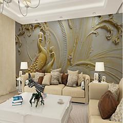 billige Tapet-Art Deco Mønster 3D Hjem Dekor Vintage Moderne Tapetsering, Lerret Materiale selvklebende nødvendig Veggmaleri, Tapet