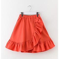 billige Pigenederdele-Børn Pige Ensfarvet Uden ærmer Nederdel