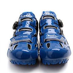 billige Sykkelsko-Tiebao® Mountain Bike-sko Karbonfiber Anti-Skli Sykling Svart / Blå Herre Sykkelsko / ånd bare Blanding / Krok og øye