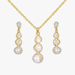 baratos Conjuntos de Bijuteria-Mulheres Conjunto de jóias - Cabaça Europeu, Fashion Incluir Dourado Para Casual / Brincos