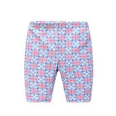 voordelige Broeken voor baby's-Dagelijks Geometrisch Katoen Lente Zomer Baby Meisjes Broek Vintage blauw