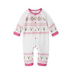 billige Babytøj-Baby Pige Simple Ensfarvet Flettet Langærmet Bomuld / Bambus Fiber Overall og jumpsuit