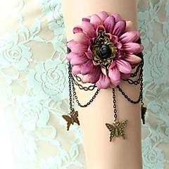 baratos Bijoux de Corps-Cadeia braço Flor, Borboleta Vintage, Doce Mulheres Prateado / Preto Bijuteria de Corpo Para Formal / Para Noite