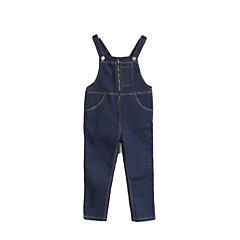 billige Bukser og leggings til piger-Baby Pige Simple Ensfarvet Overall og jumpsuit