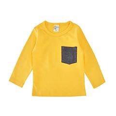 billige Pigetoppe-Baby Unisex Simple Daglig / Ferie Ensfarvet Stilfuldt / Lomme Langærmet Normal Bomuld T-shirt Rød