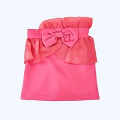 billige Pigenederdele-Pige Nederdel Daglig Ferie Ensfarvet, Bomuld Polyester Forår Sommer Halvlange ærmer Sødt Lyserød