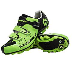 billige Sykkelsko-SIDEBIKE Mountain Bike-sko Karbonfiber Vanntett, Ultra Lett (UL), Anvendelig Sykling Svart / Rød / Grønn Herre