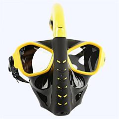 billiga Dykmasker, snorklar och simfötter-Snorkelmask / Simglasögon Anti-dimma, Explosionssäker Två Fönster - Simmning, Dykning PC - för Vuxen Svart / Gul / Blå