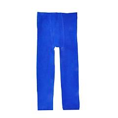 billige Bukser og leggings til piger-Pige Bukser Daglig Ferie Ensfarvet, Bomuld Forår Efterår Langærmet Simple Lyserød Navyblå Grå Vin Marineblå