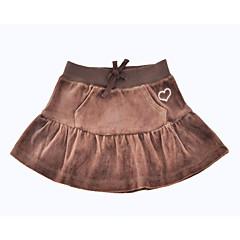 お買い得  女児 スカート-女の子 日常 祝日 ソリッド コットン ポリエステル スカート 春 秋 ハーフスリーブ シンプル ブラウン