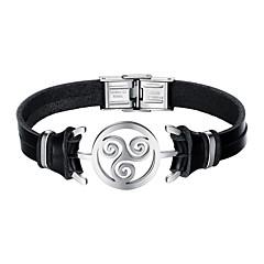 Men's Bracelet - Leather Bracelet Black For Daily Date