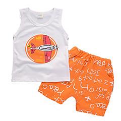 billige Tøjsæt til drenge-Baby Drenge Ensfarvet Bomuld Tøjsæt