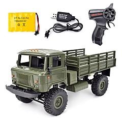 billige Fjernstyrte biler-Radiostyrt Bil WPL B-24 GAZ-66 4 Kanal 2.4G On-Road / Trailer 1:16 Børsteløs Elektrisk 10 km/h KM / H