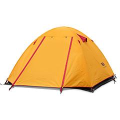 billige Telt og ly-Naturehike 3-4 personer Telt Dobbelt camping Tent Utendørs Turtelt Velventilert Bærbar Ultra Lett (UL) Vindtett Sammenleggbar Pusteevne