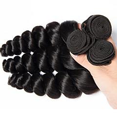 preiswerte Haarverlängerungen in natürlichen Farben-Brasilianisches Haar Wellen Echthaar Haarverlängerungen 3 Bündel 8-28Zoll Menschliches Haar Webarten extention / Schlussverkauf Natürlich